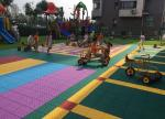 China Colorful Customized Removable Kindergarten Flooring Shock Absorber Green wholesale