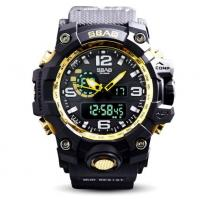 SBAO New Men Multifunction Dual Time Alarm Calendar Waterproof 30m Outdoor Sports Wrist Watches S-8005-2