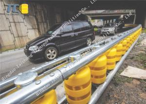 China Bridge Metal Beam Crash Barrier With EVA PU Polyurethane Roller Material on sale