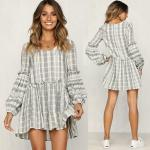 Women Clothing 2018 Long Sleeve Cotton Summer Casual Dresses