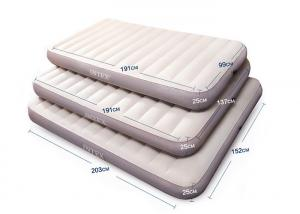 China Custom Size Travel Inflatable Bed CE / ISO Certification Flocking PVC Material on sale