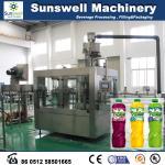 machine du remplissage à chaud 3-In-1, machine de remplissage de jus d'acier inoxydable