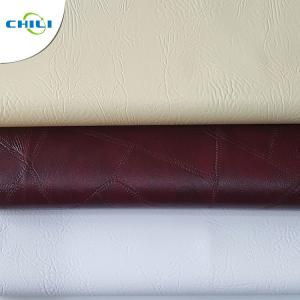 China Soft Comfortable Textured Faux Leather Upholstery PVC Vegan Thin Quilted on sale