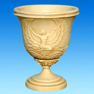 China Decoration Cast Iron Garden Urns Planters Metal Material For Villa Garden on sale
