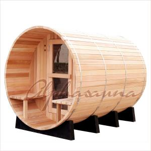 China 7 Foot By 7 Foot Barrel Shaped Sauna For 3-4 Person , Traditional Sauna Kit on sale