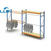 Powder Coated Light Duty Metal Clothes Rack, Steel Commercial Clothing Racks