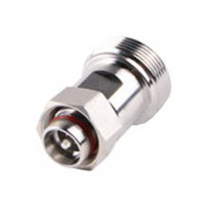 China 4.3 - 10 Mini DIN Male To 7 / 16 Female Connector Adapter Sliver And Tri-Alloy Plating on sale