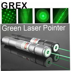 China Green flashlight High Power Laser Pointer Long Distance 200mw Green Laser Pointer with 5 Pattern Heads with charge and b on sale