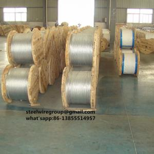 China Galvanized Guy wire 7/16 with Coil ASTM A475, Guy Strand on sale