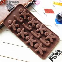Hot sale factory custom made Christmas Ginger Bread crutch shape silicone baking mould