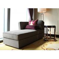 China Modern Linen Fabric Wooden Lounge Chair , Grey Elegant Chaise Lounge Sofa on sale