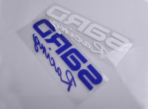 China Custom Printed UV resistant transparent liner clear adhesive vinyl car decal sticker on sale
