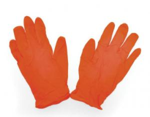 China Natural Latex Rubber Hand Gloves , Latex Gloves Powder Free Micro Texture Surface on sale