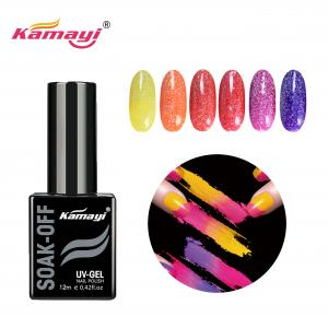 China 58.2g 12ml Fashion 24 Colors Neon Gel Nail Polish on sale