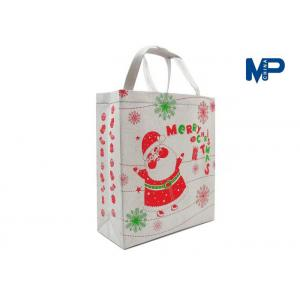 China Handled 120gsm Non-Woven Shopping Bag Snowman Bag With Lamination on sale