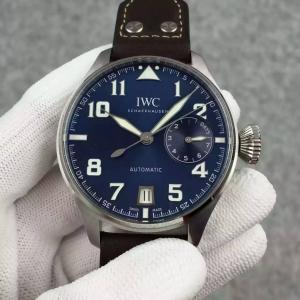 China IWC Big Pilot 46mm Le Petit Prince Power Reserve Display Automatic Watch Leather Strap on sale