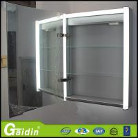 China wall mounted led makeup bathroom cupboards with mirrors on sale
