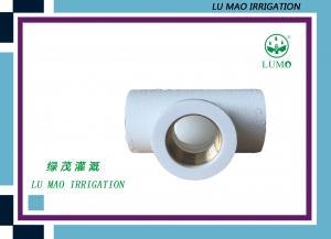 China Garden Irrigation Fittings Socket Weld Reducing Tee Female Thread Brass Insert on sale