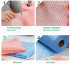 Disposable Spunlace Nonwoven Wipes Cleaning Wipes With Different Color