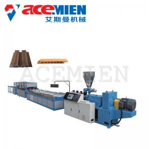 China PVC Door Sheet Wood Plastic Composite Production Line Optional Power Durable on sale