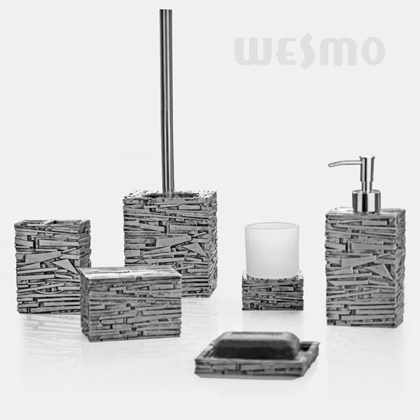 bathroom accessories sets silver. Antique Silver Color Polyresin Bathroom Set With Glass Cup Stylish Accessories (WBP0804A) Sets M