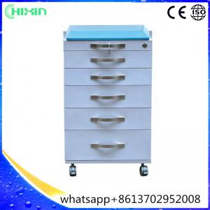 China Formaldehyde-free anticorrosive mobile dental cabinet and dental cart with 6 drawers for luxury clinic on sale