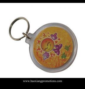 China Latest Customized Your Own Logo Design Plastic Acrylic Keychain supplier