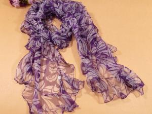 China Lady's Popular Oblong Pure Silk Scarf on sale
