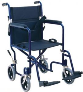 China Foldable Attendant Aluminum Wheelchair ,seat width 17 on sale