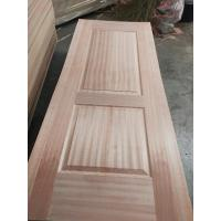 Inside Furniture Oak Veneer Door Skin , Beautiful Door Panel Skins With Sapeli Veneer