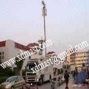 China 2m Roof Antenna Pneumatic Folding Telescopic Mast For CCTV and Communication. on sale