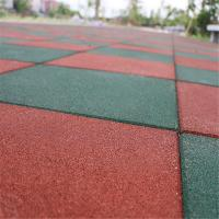 Elementary  schools playground safety surface Rubber Tiles High Density Long service life  mat