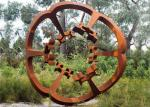 Oxide Color Rusty Garden Sculptures , Metal Garden Flowers Sculpture 150cm Heigh