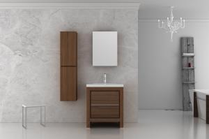 China Elegant Oak MDF Bathroom Furniture With Side Cabinet 800 x 25 x 700mm on sale