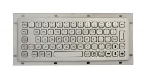 China 68 keys compact format IP67 stainless steel Panel Mount waterproof keyboard on sale