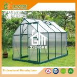 Low Cost Agriculture Green Color Aluminum Growhouse With Gutter - 258x195x205cm