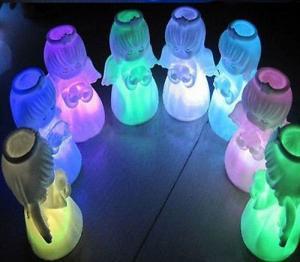 China Luz cambiante de la noche de la muñeca LED del ángel del color de la decoración de Navidad on sale