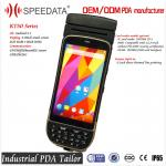 5.0 Inch Android Bluetooth Industrial PDA Thermal Printer Barcode Scanner 58mm Portable