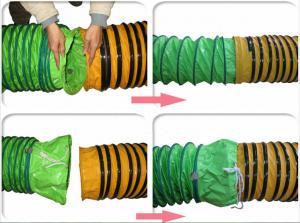 China Prenda impermeable de la manguera del conducto de ventilación del PVC del diámetro grande para la distribución del aire on sale