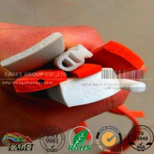 China RED/ORANGE closed cell medium density silicone sponge cord on sale