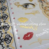 China Metallic Glitter Flash Temporary Water Transfer Tattoo Sticker on sale