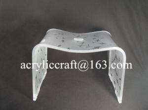 China Custom Color Printing Acrylic Furniture, Transparent Dining Chair on sale