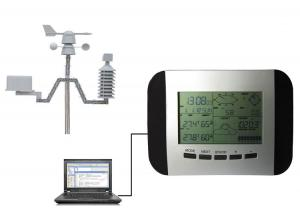 China Profession Weather Station with solar and PC link (433MHz, RCC Transmission range up to 100meters) on sale