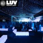 LUV-3LHC406-G 4mx6m RGB horizon DMX curtain LED star curtain cloth with China B1 fireoproof fabri