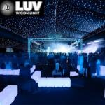 LUV-3LHC-Y Customize make size RGB LED star light table cloth with best British UK5852 firerpoof