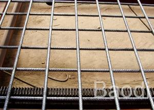 China Durable Rebar Reinforcing Wire Mesh Opening 100 - 300 Mm For Highway / Wharf on sale
