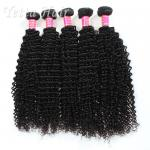 Long Lasting Grade Peruvian Hair Kinky Curly Weave With Tangle Free