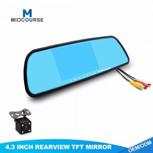 China 2017 Universal 4.3 Inch TFT LCD Car Rearview Mirror Monitor on sale
