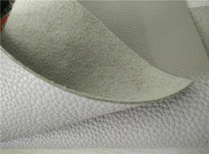 China Stone Full Grain Cow Eco Friendly Leather White For Furniture / Sofa on sale