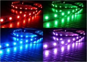 China Flexible 5050 RGB LED Module Strips IP65 Waterproof 12V - 24V on sale